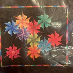 Quilt Pattern Rainbow Rosettes Easy Paper Piece
